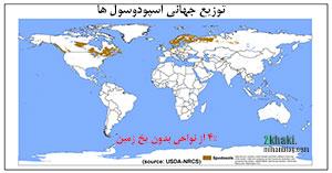 دو خاکی - توزیع جهانی اسپودوسولها