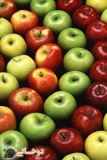 دو خاکی - پوست سیب 5 برابر سیب ویتامین دارد